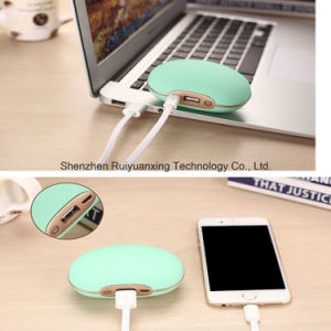 3 Gears Temperature Hand Warmer Portable Mini Power Bank (Green) pictures & photos
