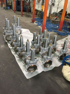 API 150lb Cast Steel High Pressure Knife Gate Valve