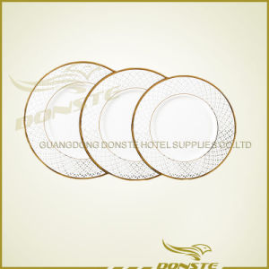 Staned Ceramic Golden Line Plate Set pictures & photos