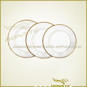 Staned Ceramic Golden Line Plate Set