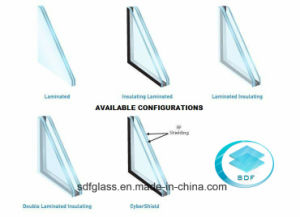 Double Clear+Colored PVB Laminated Glass with CE, ISO pictures & photos