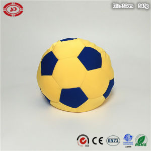 Football Soft Stuffed Foam Beads Yellow and Blue Custom Toy pictures & photos