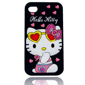 DOT Kitty Silicone Phone Case S6edge S7edge P8 P9lite P9 Phone Accessories (XSK-008)