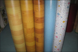 Vinyl Flooring/PVC Vinyl Sheet in Rolls pictures & photos