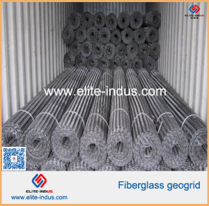 100kn/M 50kn/M Fiberglass Glassfiber Geogrid pictures & photos
