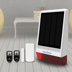 New Solution GSM Solar Power Alarm with Flash Siren for Outdoor Use pictures & photos