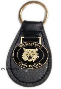 Customized Leather Luggage Tag for Country Club