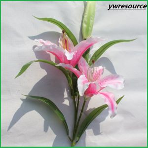 High Quality Fake Lily Artificial Flowers for Wedding Home Decoration pictures & photos
