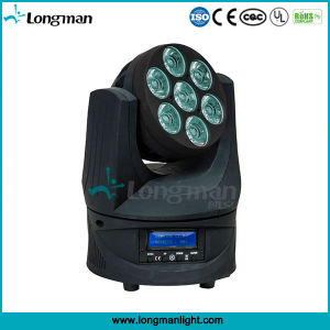 Endless Roating 7*15W RGBW LED Moving Head Professional Disco Lighting pictures & photos