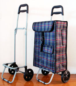 2 Wheel Collapsible Light Weight Microfiber Material Shopping Trolley pictures & photos