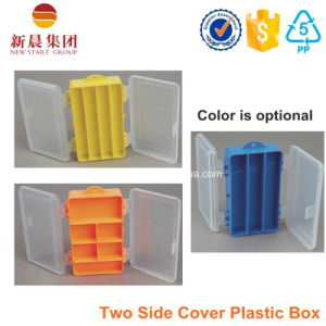 Double Clear Cover Plastic Storage Box pictures & photos