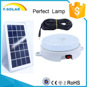 6V3w 9PCS-LED More Than 10h Lighting -Light Control Solar Lamp+Cable-5m SL1-3W pictures & photos