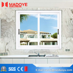 White Sliding Window with Aluminum Frame for Building Material pictures & photos