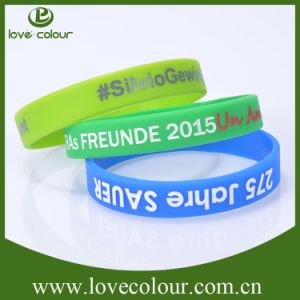 Custom Rubber Bracelet Band Silicone Wristband with Debossed Design