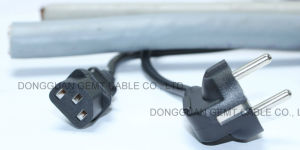 Cable Manufacture 180cm Male to Female European AC Power Cord pictures & photos