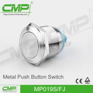 19mm Black Metal Momentary Push Button Switch pictures & photos