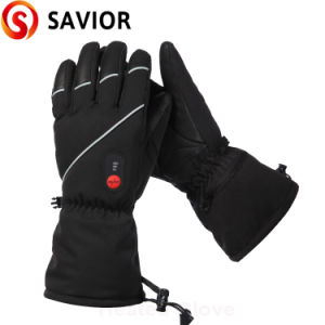 Waterproof Leather Rechargeable Battery Heated Skiing Glove Sport Gloves pictures & photos