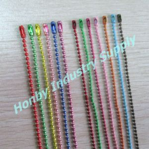 Jewelry Finding Fashionable 2.4mm Cooper Color Metal Ball Chain with Clasp pictures & photos