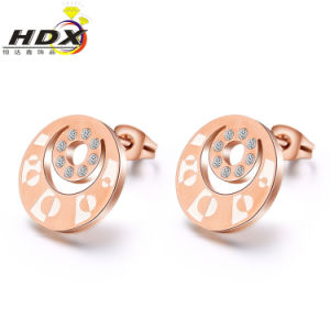 Elegant Jewelry Fashion Women Stainless Steel Diamond Stud Earrings pictures & photos