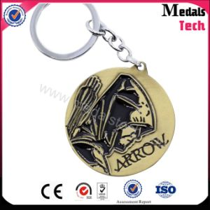 Custom Metal Black Filled Round Brass Keychain From China Factory pictures & photos