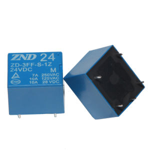 3FF (T73) 7A 24V 5pins Electromagnetic Relay Miniature Power Blue Cover Relay pictures & photos