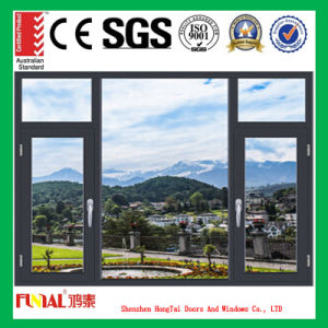 Double or Trip Glass Aluminium Window for House Decoration