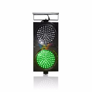 High Brightness Red Green 300mm Crossing Road Solar Traffic Light pictures & photos