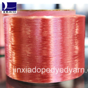 FDY Dope Dyed 750d/288f Filament Polyester Yarn pictures & photos