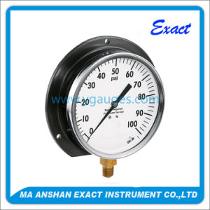 Black Steel Body Air Pressure Gauge with Back Flange pictures & photos