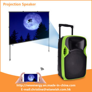 Professional Digital Audio Outdoor PA Speaker with LED Projector
