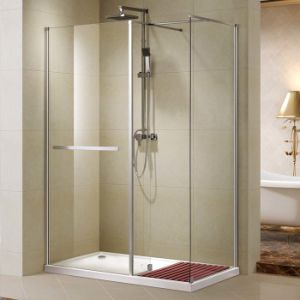 Chrome Al Profile Walk-in Shower Door with Tempered Clear Glass (K-W03) pictures & photos