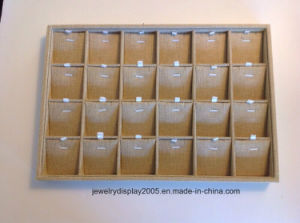 Lot of 5 Linen Jewelry Display Tray 24 Grid Spaces & Necklace Inserts pictures & photos