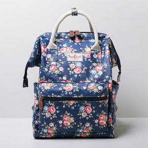 Large Size Dark Blue PVC Canvas Backpack Bag (99239-20)
