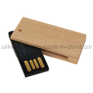 Wooden Swivel USB Flash Disk/ Flash Drive (UL-W001) pictures & photos