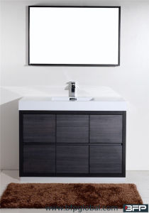 America Style Popular Modern Ceramic Basin Waterproof Side Cabinet Bathroom Cabinet pictures & photos