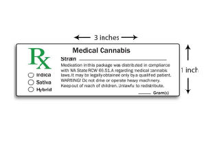 California Medical Cannabis Rx Labels Prescription Labels pictures & photos