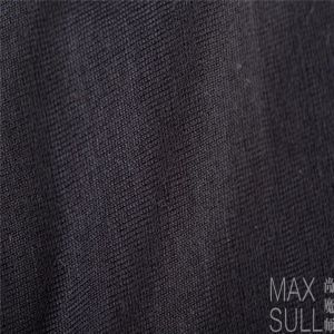 Machine Wash Wool Fabrics for Nightdress in Black