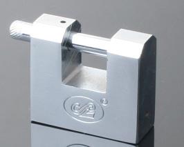 Chrome Plated Rectangular Iron Vane Padlock with Sliding Card Packing pictures & photos