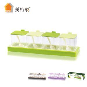 Metka Kitchen Supplies Hardcover Plastic Condiment Dispenser Seasoning Box 4 pictures & photos