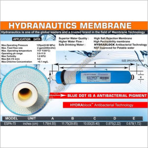 Hydranautics 75gpd Blue DOT RO Membrane pictures & photos