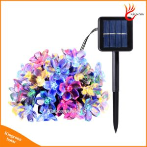 New 50 LEDs 7m Peach Ledertek Flower Solar Lamp Power LED String Fairy Lights Solar Garlands Garden Christmas Decor Light for Outdoor pictures & photos
