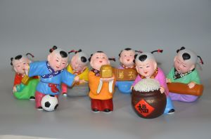Promoted Set of Chinese Culture Colorful Clay pictures & photos
