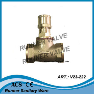 Brass Stop Valve for Water Meter (V23-221) pictures & photos