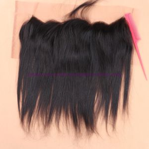 8A Full Frontal Lace Closure 13X4 with Bundles Straight Indian Virgin Hair with Closure Cheap Ear to Ear Lace Frontal Closure pictures & photos