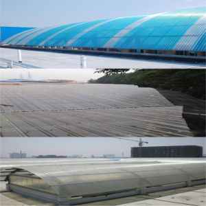 Polycarbonate UV-Coated Transparent   Corrugated Solid Sheet for Roofing Panels pictures & photos