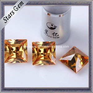 High Quality Princess Cut 20X20mm Cubic Zirconia Loose Gemstone pictures & photos