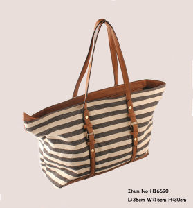 2017 Fashion Shoulder Canvas Tote Bags for Women pictures & photos