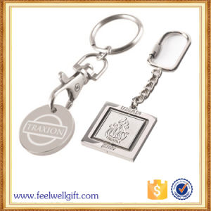 Custom High Quality Flag Coin Keychain with Logo Engraved pictures & photos