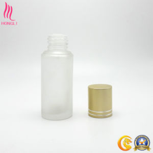 Frosted Empty Bottle with Golden Lid pictures & photos