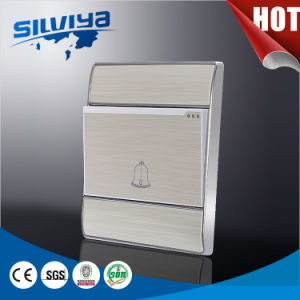 White Aluminium Door Bell Wall Switch for UK pictures & photos